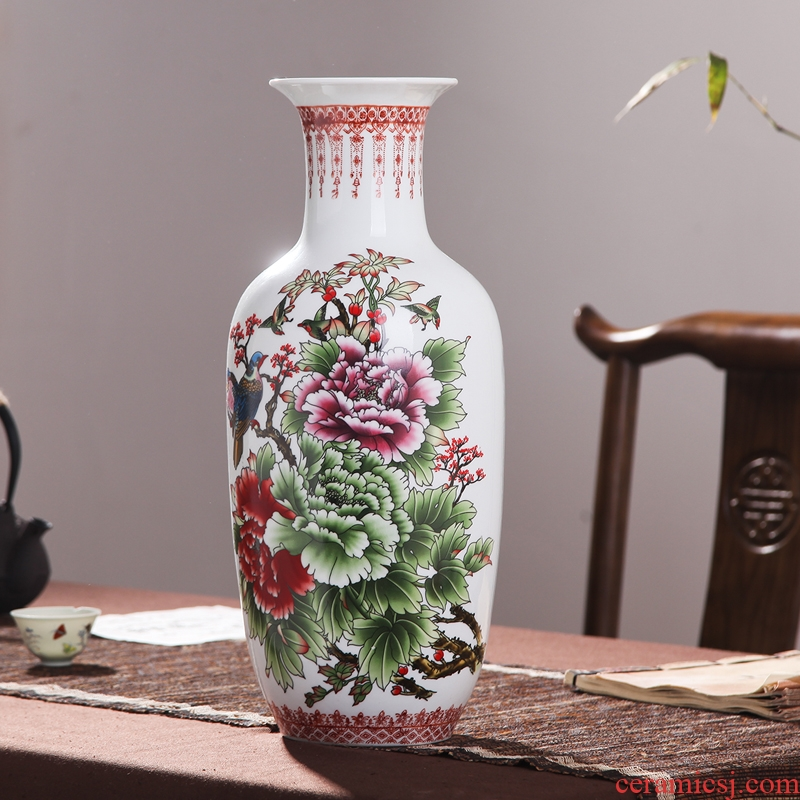 Jingdezhen ceramic vases, flower receptacle contracted TV ark, furnishing articles lucky bamboo hydroponic packages mailed home decoration arts and crafts