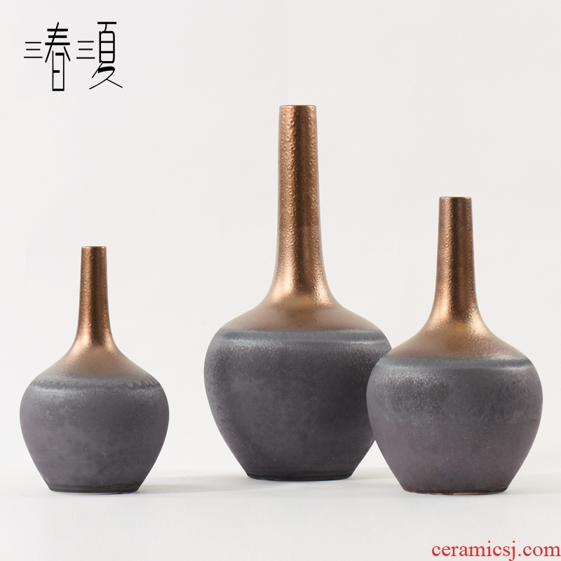 New Chinese style restaurant ceramic flower implement flower arrangement between example sitting room porch panel light key-2 luxury furnishing articles table vase