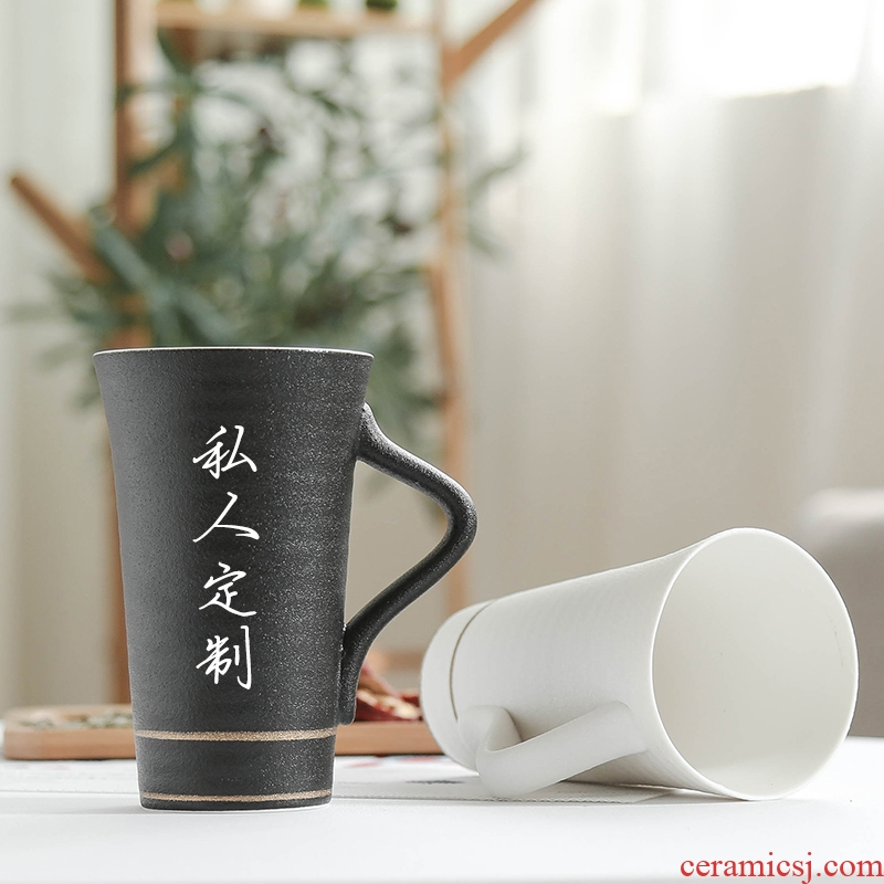 Nan sheng move contracted ceramic keller cup paint individual cup of domestic large capacity cup tea cup
