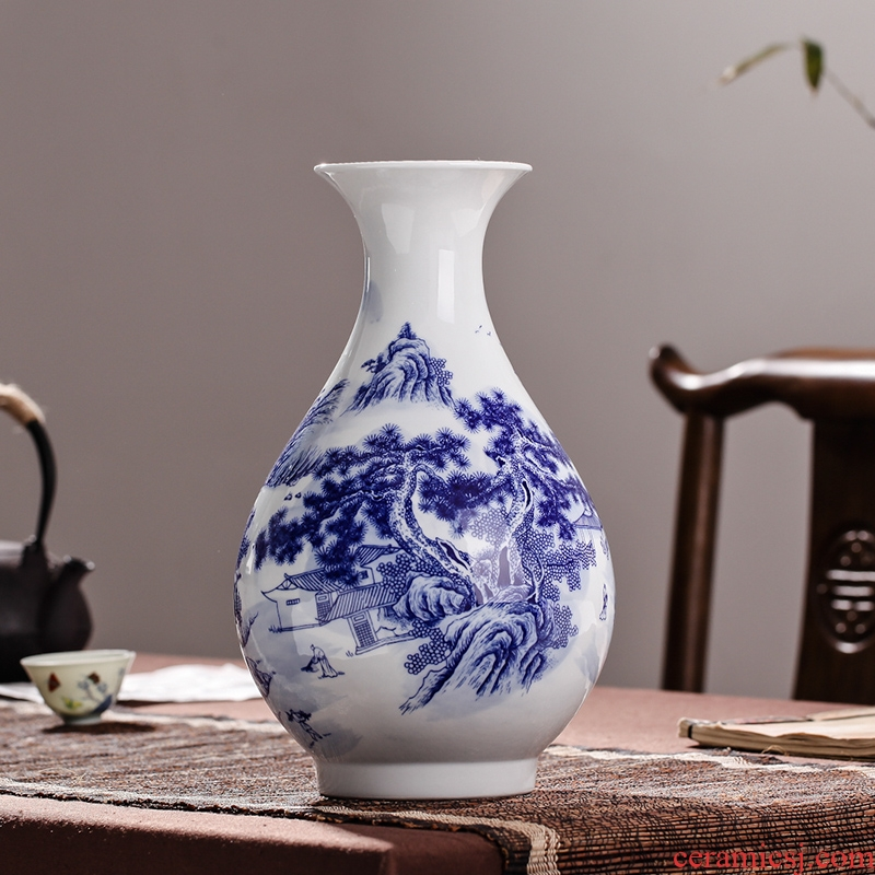 Jingdezhen ceramic modern blue and white porcelain vase process decoration decoration home furnishing articles sitting room package mail