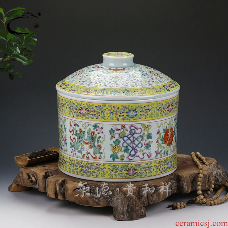 DE POTS and auspicious Beijing jingdezhen ceramics by hand and POTS are scattered receives cake caddy fixings receives three as cans