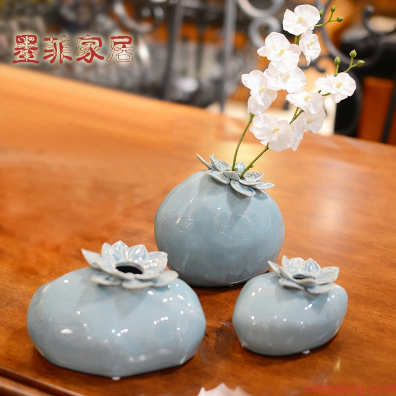 New Chinese style ceramic vase furnishing articles zen creative classic wine sitting room simulation flower art flower arranging home decoration