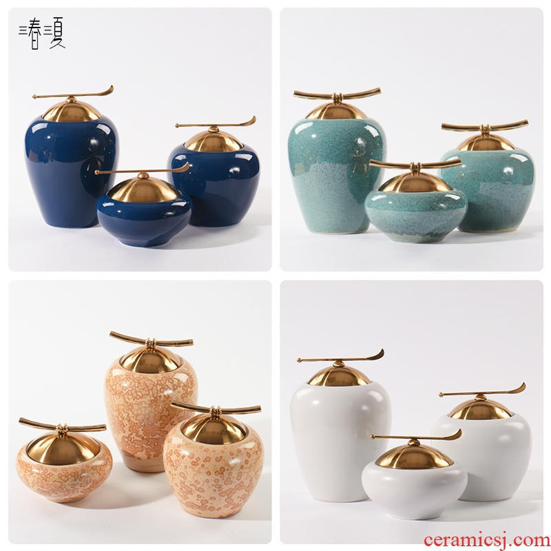 New Chinese style is I and contracted ceramic pot furnishing articles household soft adornment wine porch rich ancient frame decoration sales department