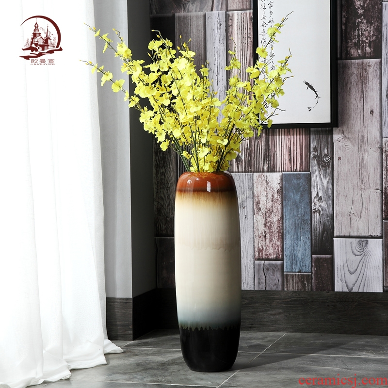 Modern European ceramic creative household vogue sitting room of large vase flower arranging, TV ark, porch place