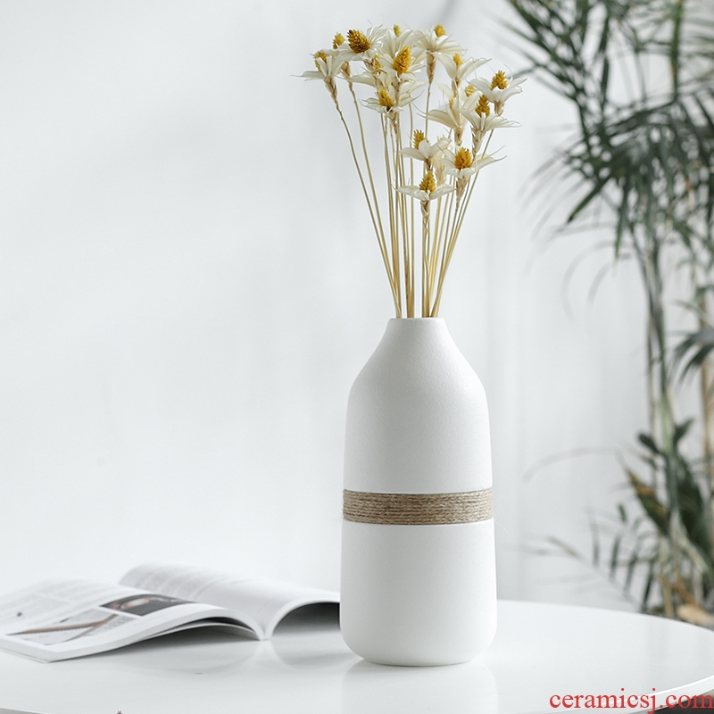 Nan sheng I and contracted Europe type ceramic vase simulation flowers, dried flowers, artificial flowers, floral flower arranging household act the role ofing is tasted furnishing articles