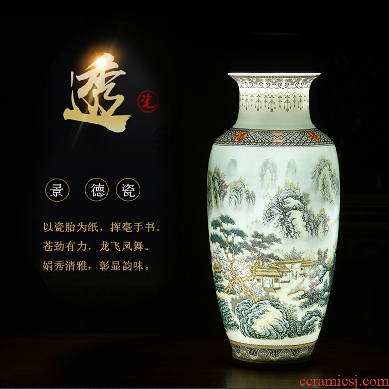 Jingdezhen ceramics vase three - piece furnishing articles home TV ark, rich ancient frame porch decoration wine accessories