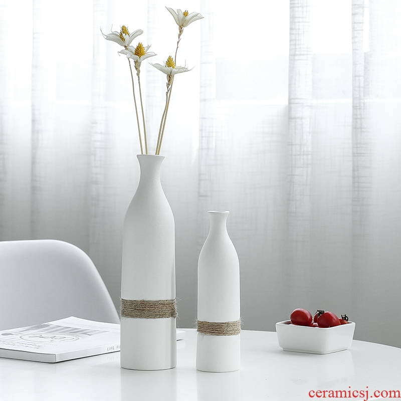 Nan sheng European I and contracted hemp rope fake flowers, dried flowers, simulation ceramic vases, furnishing articles to decorate household act the role ofing is tasted