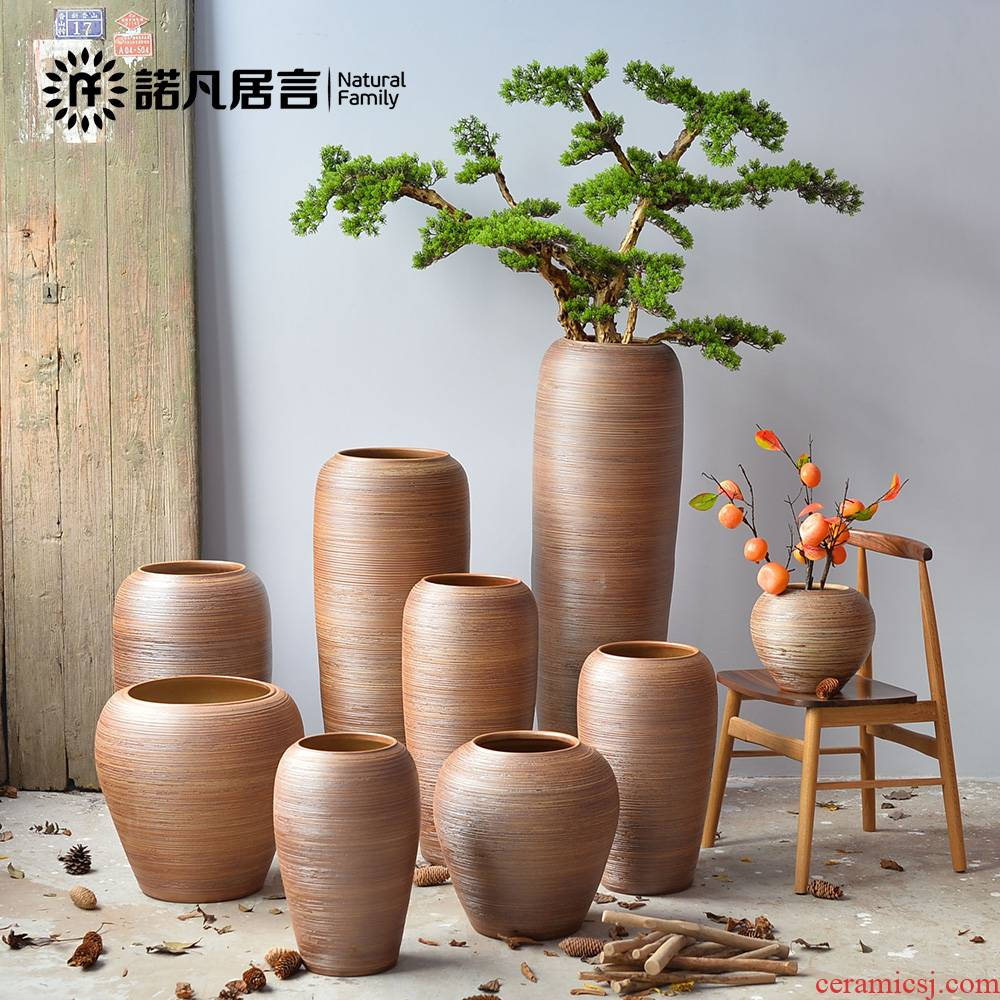 Jingdezhen ceramic vase of large hotel villa covers furnishing articles sitting room porch flower arranging the simulation tree decoration