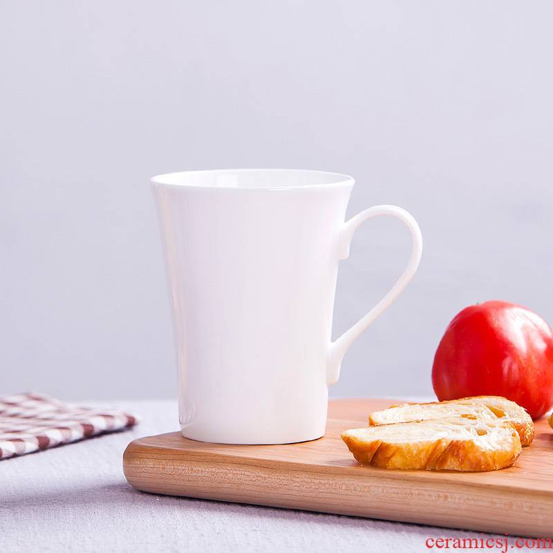 Jingdezhen porcelain ipads milk cup pure white ceramic mugs creative picking cup tea cup cup coffee for breakfast