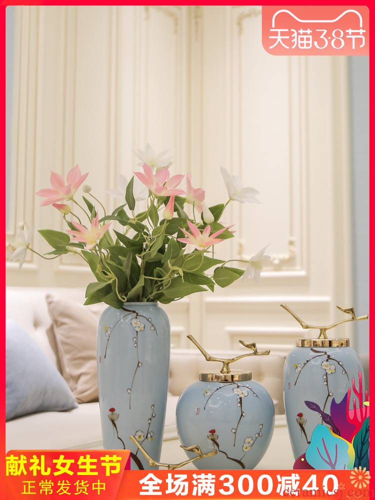 Jingdezhen mesa of I and contracted ceramic vases, flower arranging flower implement wine furnishing articles, the sitting room porch home decoration