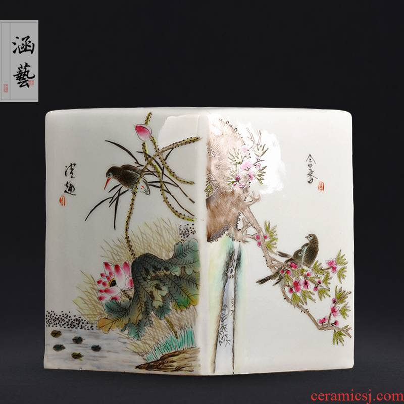 Jingdezhen ceramics hand - made clear interest contained sweet vase Chinese arts and crafts rich ancient frame home furnishing articles collection