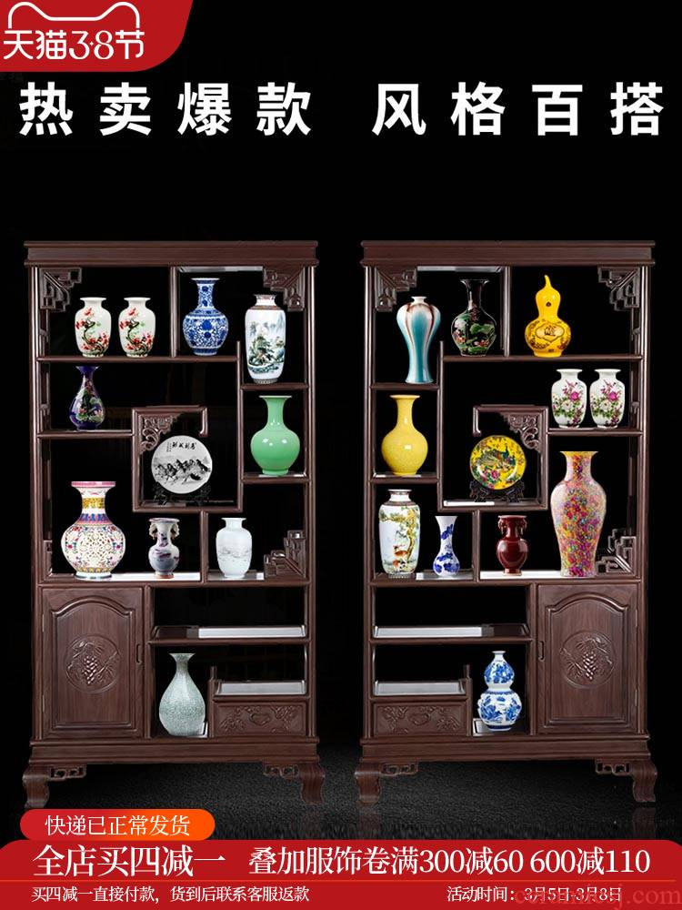Jingdezhen ceramics flower arrangement of blue and white porcelain vase household adornment office furnishing articles little sitting room handicraft b9