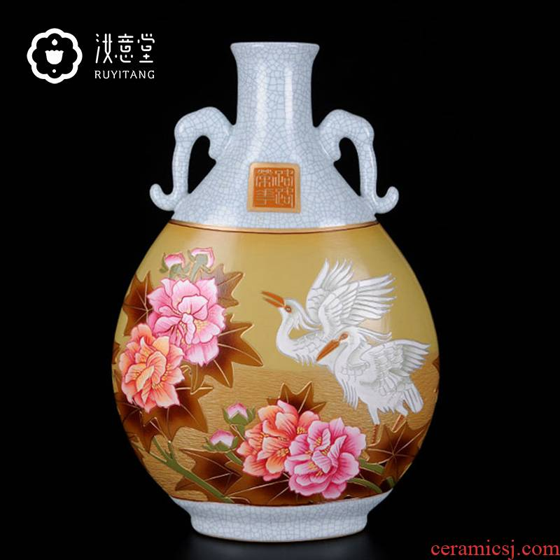 Your up big vase furnishing articles hand - made porcelain ceramic art festival gifts home sitting room hotel adornment creative characteristics