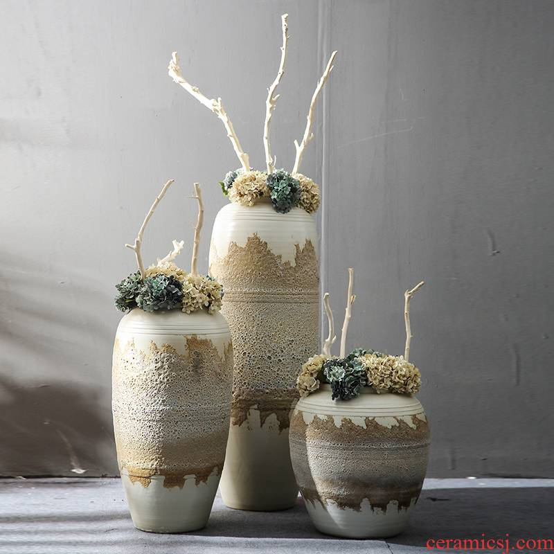Jingdezhen ancient ceramic vase planting fake flowers restore ancient ways the simulation sitting room ground zen decorative flower decoration furnishing articles