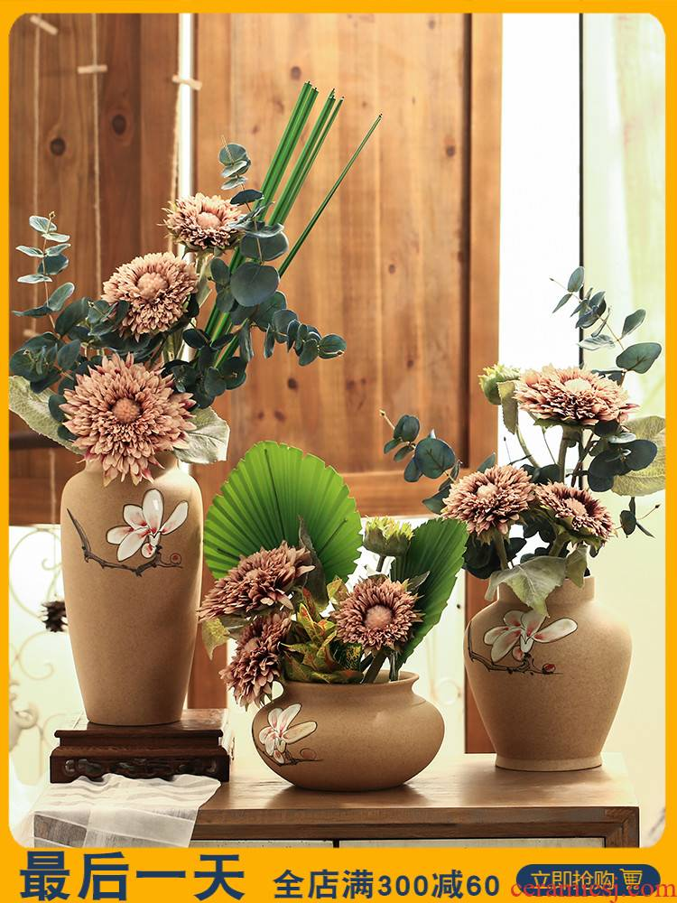 Like a flower of new Chinese style ceramic vases, flower art furnishing articles simulation flowers, artificial flowers home sitting room interior decoration decoration