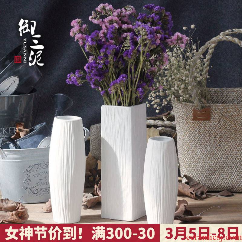 Coarse pottery dried flowers all over the sky star vase Nordic contracted small pure and fresh and creative household ceramic flower arrangement sitting room adornment is placed