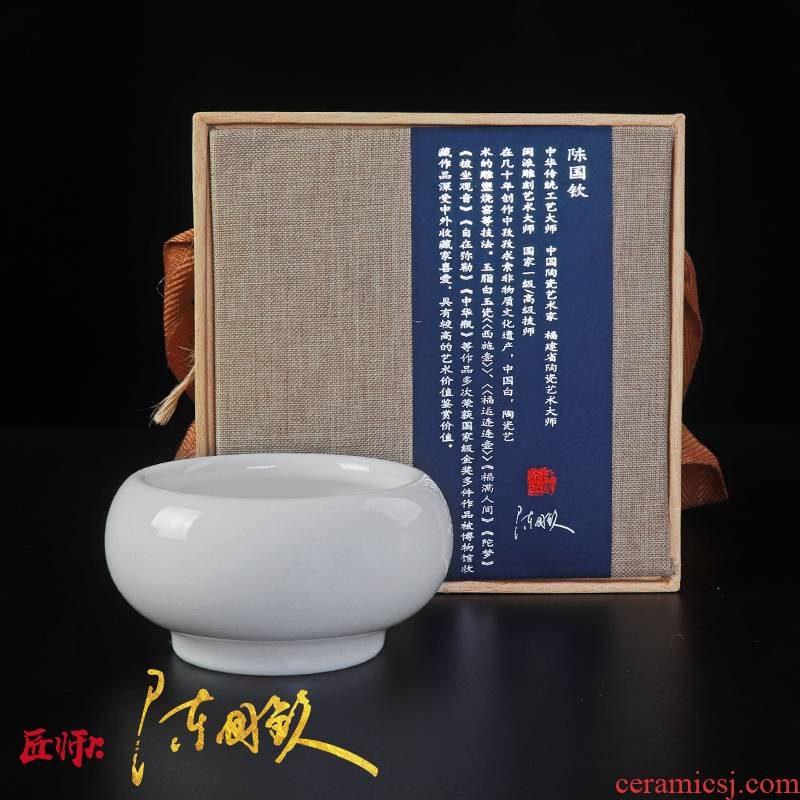 Chinese white tea cup white porcelain lamp that kung fu tea tea master cup single CPU ceramic sample tea cup individual cup round cup