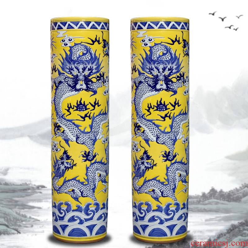 Jingdezhen of large vases, sitting room of Chinese style household decoration large three quiver hotel teahouse gift furnishing articles