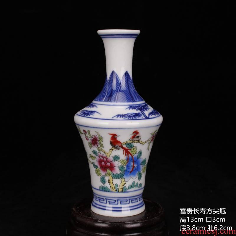 Jingdezhen porcelain dou see colour mini gall bladder name plum bottle floret bottle bo antique household archaize ceramic furnishing articles frame window