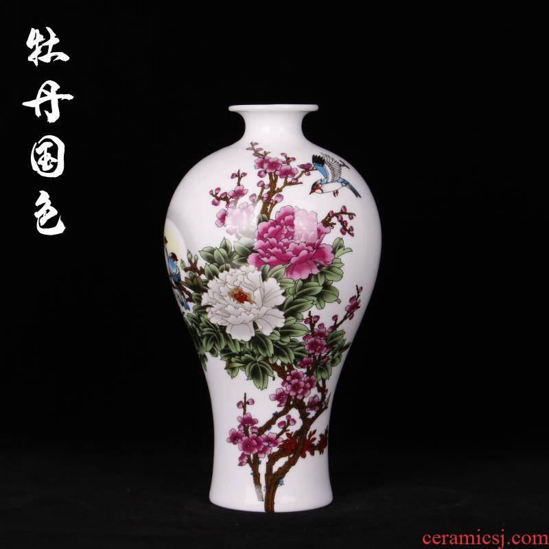 Jingdezhen of imitation the qing qianlong years of famille rose vase vase planting of new home sitting room adornment handicraft furnishing articles study