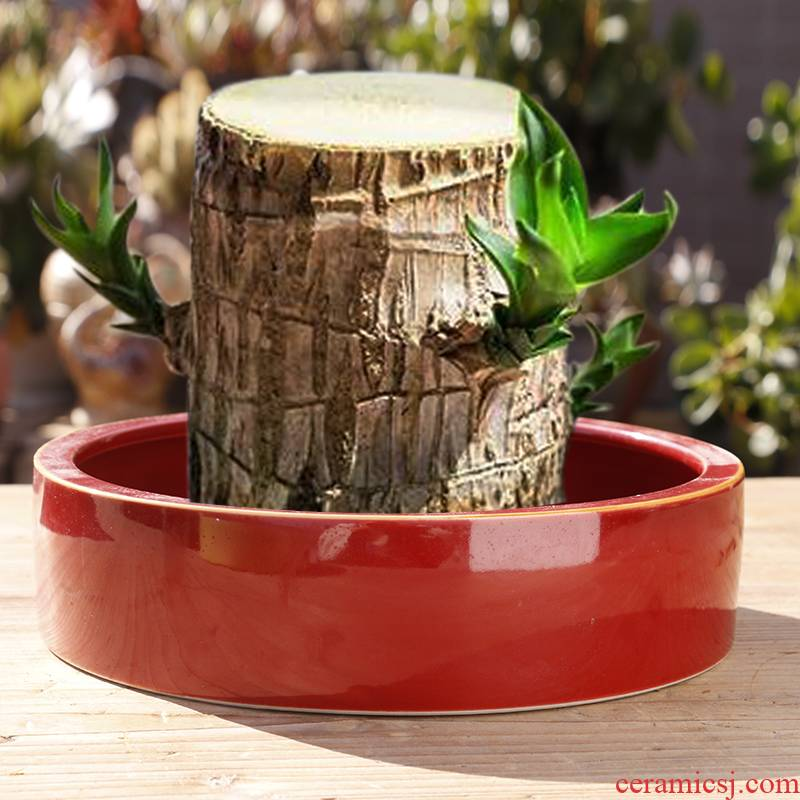 Refers to flower pot ceramic special offer a clearance hole without hydroponic container grass cooper home extra large bowl lotus pond lily, fleshy