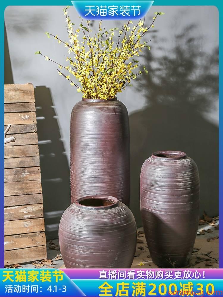 Jingdezhen ceramic restoring ancient ways of large sitting room stores to arranging the adornment furnishing articles vase simulation flower flower