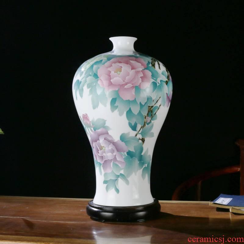 Porcelain good remit under the glaze color vase desk mesa of the sitting room porch ark, home furnishing articles business gift Porcelain