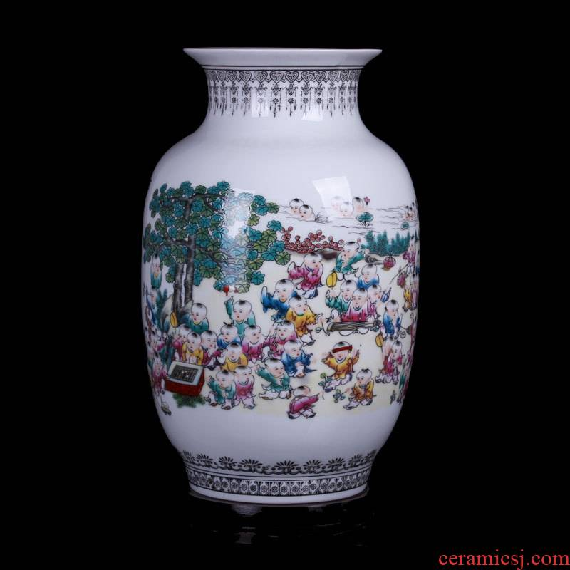 Jingdezhen ceramic vases, antique porcelain Chinese style home furnishing articles handicraft figure flower implement the ancient philosophers sitting room adornment