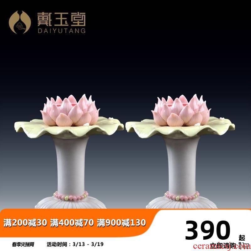 Yutang dai ceramic ('m lamps for Buddha lamp Buddha worship supplies before furnishing articles home lotus based based of picking a