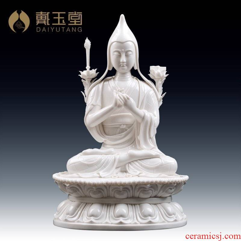 Yutang dai dehua porcelain its art collection furnishing articles/master tsongkhapa D46-24