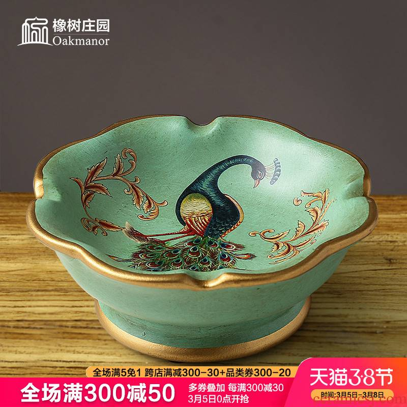European household creative ashtray furnishing articles American sitting room ceramic move trend web celebrity ashtray Chinese style restoring ancient ways