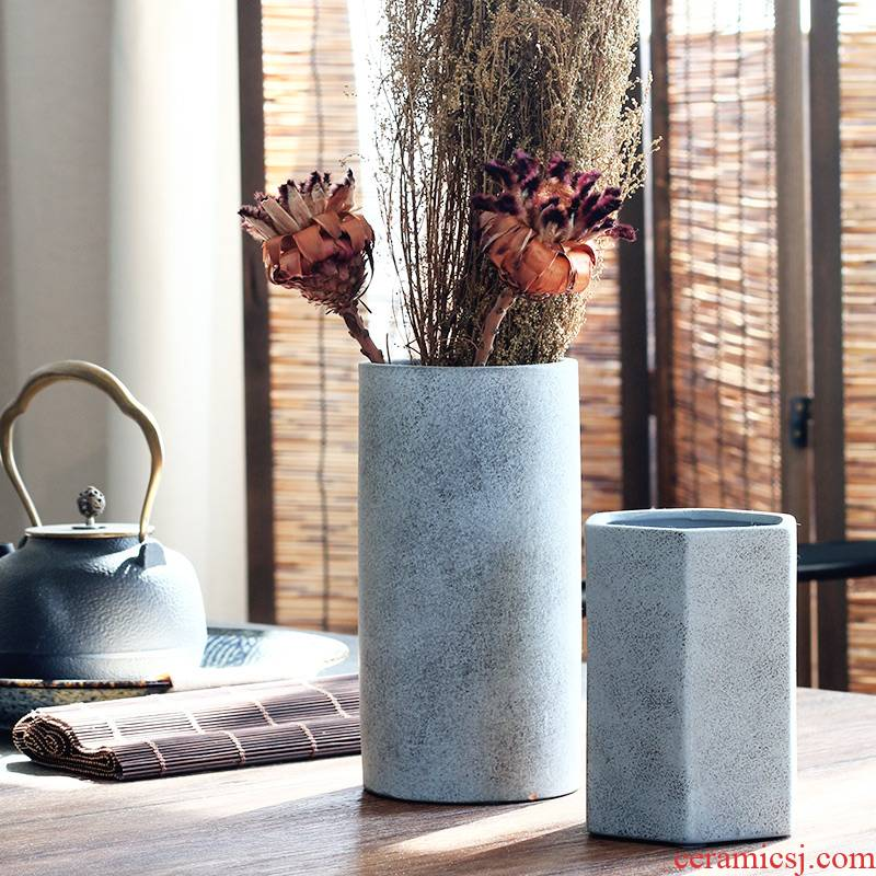 Without makeup Chinese zen aesthetics ceramic art ceramic vase floral outraged table vases, home furnishing articles clear soup WoGuo