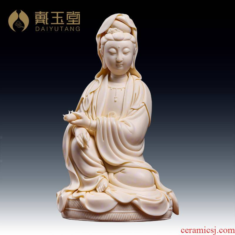 Yutang dai ceramic arts and crafts master Lin Jiansheng craftsmen of Buddha is placed at the provincial level through the guanyin/D03-161