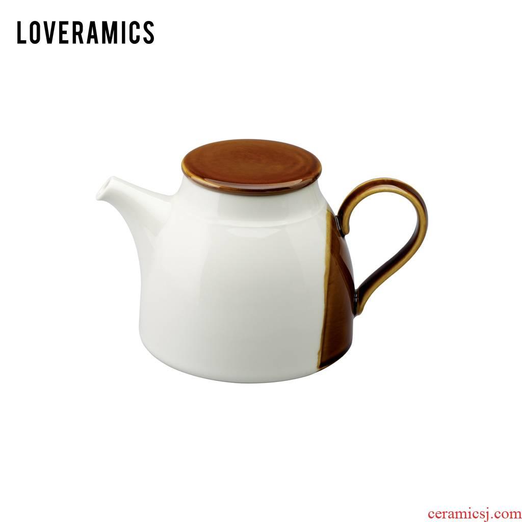 Loveramics love Mrs Tang sancai 1 l kettle filtering teapot (caramel color)