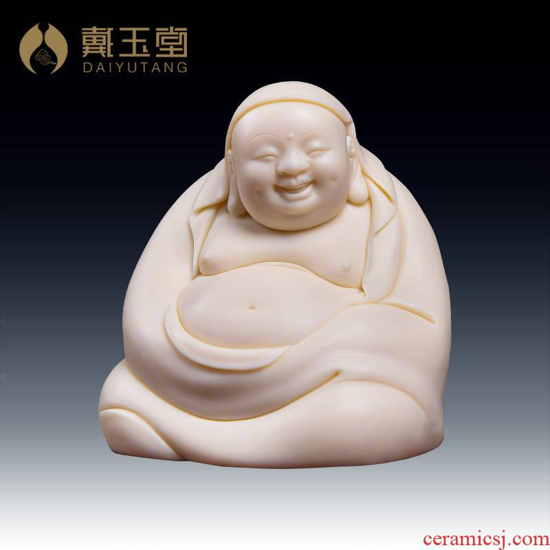 Provincial master Lin Jiansheng yutang dai solid porcelain porcelain art collection maitreya/D03-183