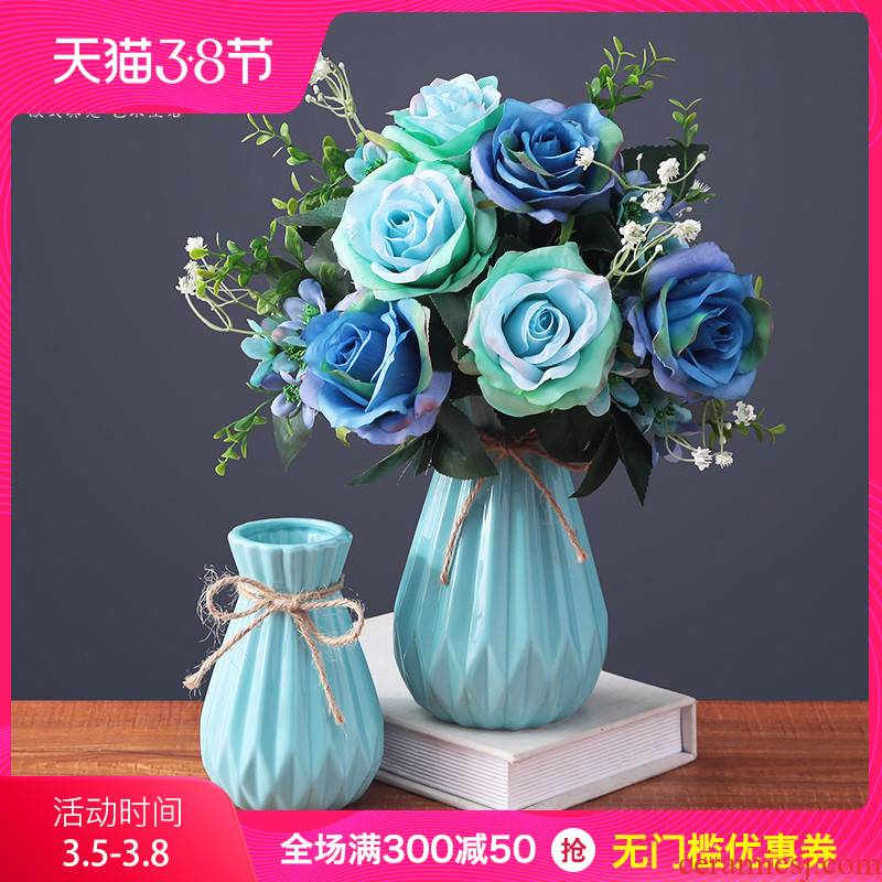 Contracted and I small pure and fresh and vase continental creative living room table dry flower arranging flowers adornment ceramics desktop furnishing articles