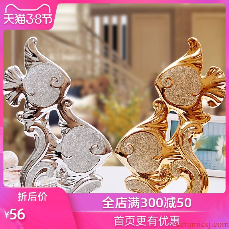 Household act the role ofing is tasted ceramic crafts creative furnishing articles furnishing articles sitting room home decoration electroplating frosted angelfish
