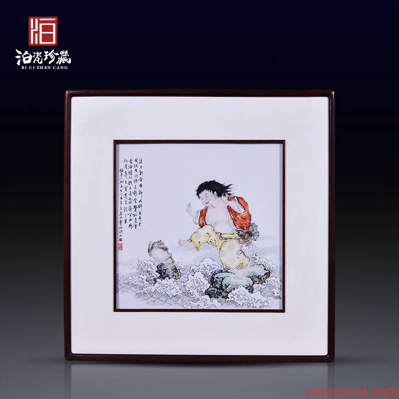Jingdezhen ceramic hand - made bang drama spittor study background wall paint decoration painting the sitting room, dining - room wall porcelain plate painting