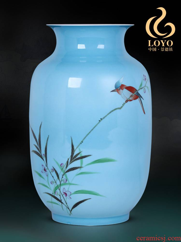 Jingdezhen ceramics furnishing articles Qiu Songxia hand - made, vases, sitting room of Chinese style household table decorations decoration