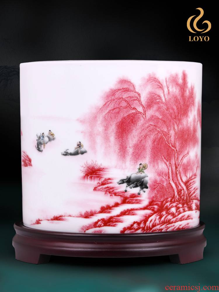 Jingdezhen ceramics designer jiangnan good pen container creative home office decorations the furnishing articles