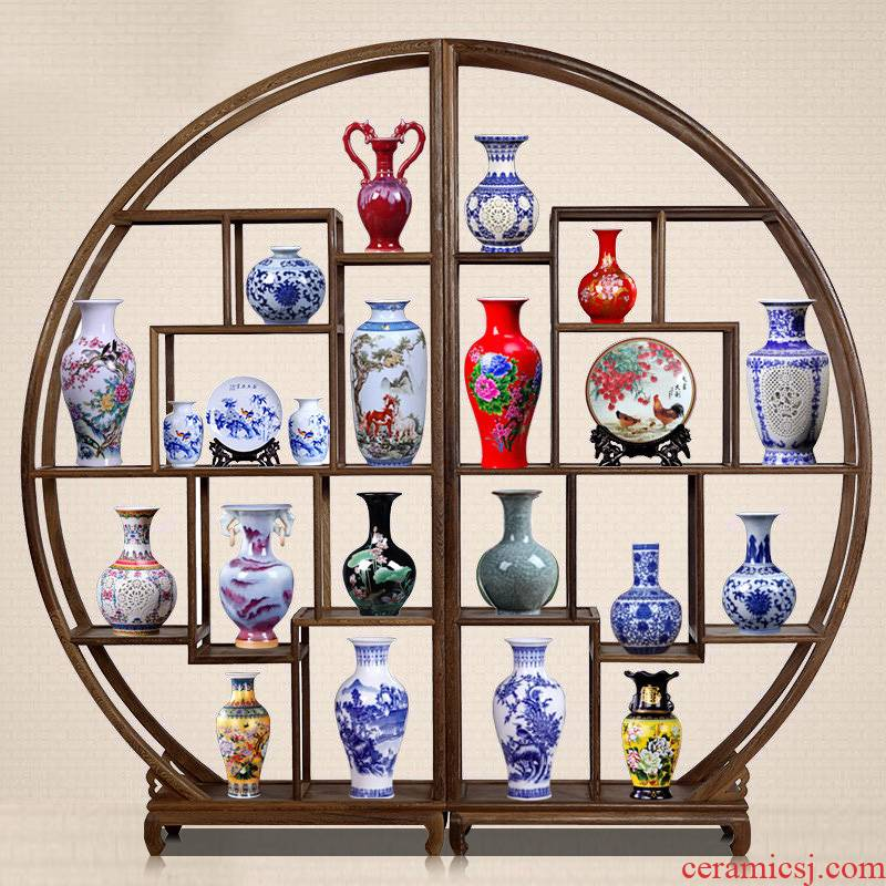 Jingdezhen ceramics furnishing articles vases, flower arranging mesa household of Chinese style fashionable sitting room or office decoration