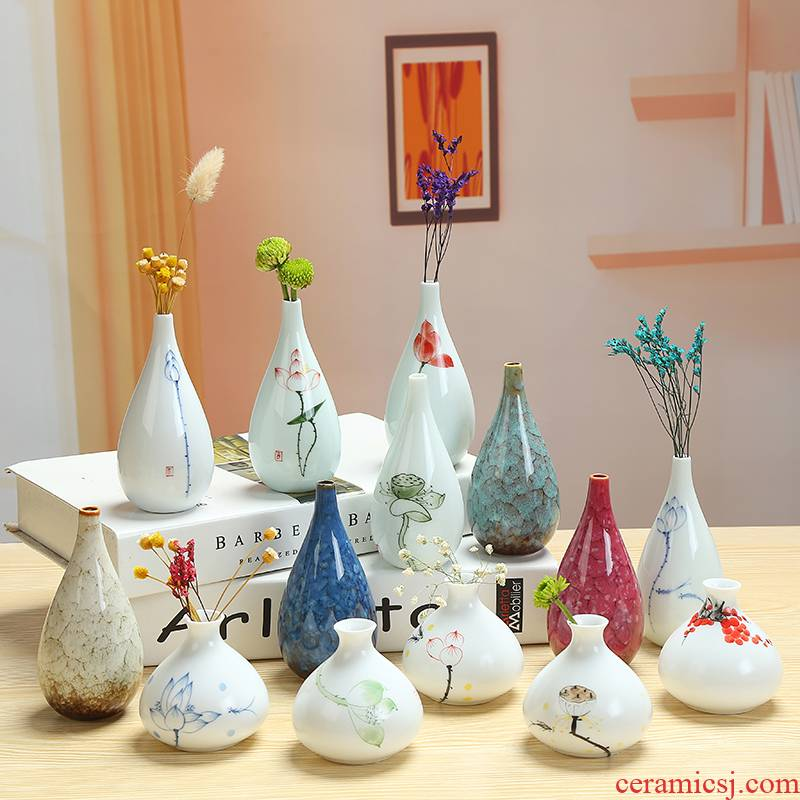 All over the sky star, ceramic white porcelain vase small pure and fresh and hydroponic dried flower flower implement I and contracted household adornment desktop furnishing articles
