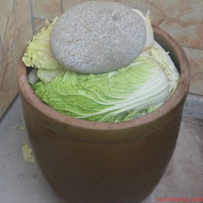 Home old flooded pickles pickled pickles cylinder jar sauerkraut small tank ceramic large - sized JiangGang big tile cylinder