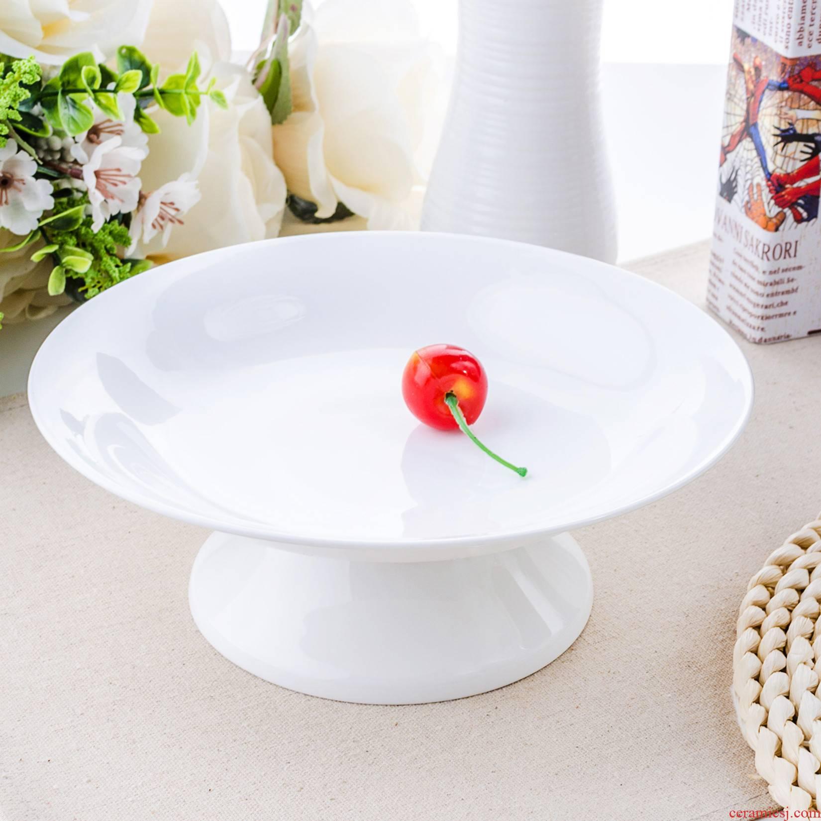 Ipads China compote European cake plate dry fruit bowl sitting room creative large fruit basin ceramic plate