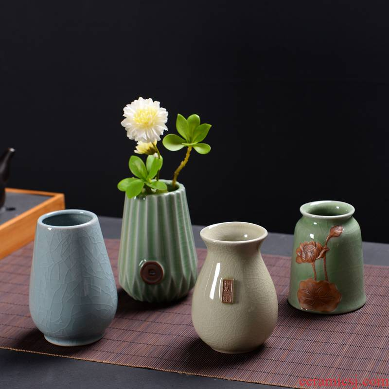 Water raise other elder brother up vase hydroponic copper grass flower POTS ceramic dried flowers all over the sky star flower tea desktop furnishing articles