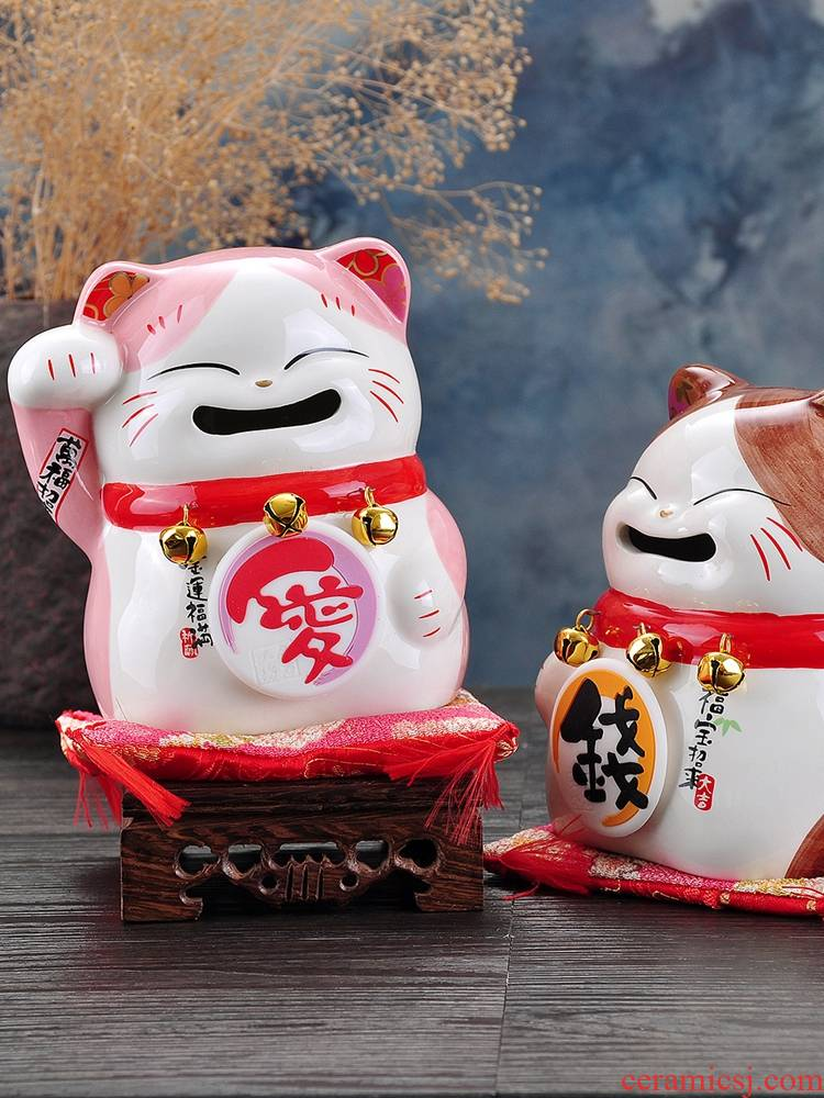 Stone workshop wedding gifts lovers plutus cat jar ceramic piggy bank home store checkout furnishing articles