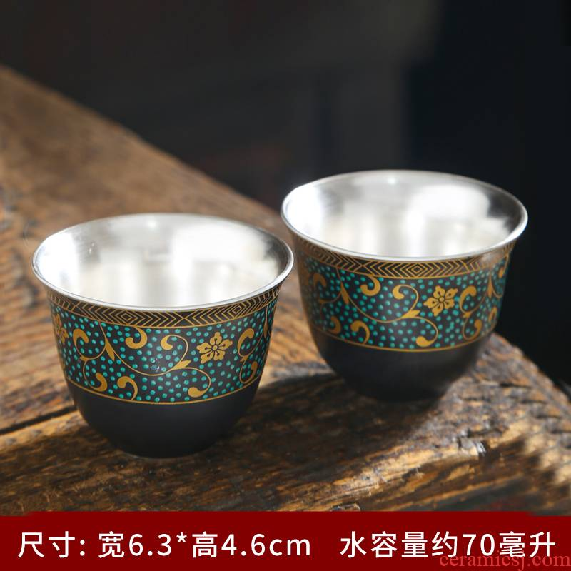 Kung fu tea set ceramic cups household pure manual master cup single CPU noggin of jingdezhen blue and white porcelain sample tea cup