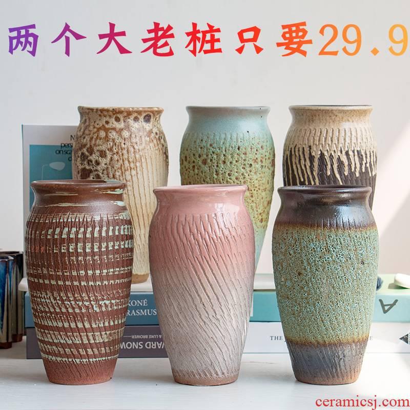 Fleshy flowerpot breathable meaty plant purple orchid rose high heavy ceramics, pottery mage flowerpot on sale