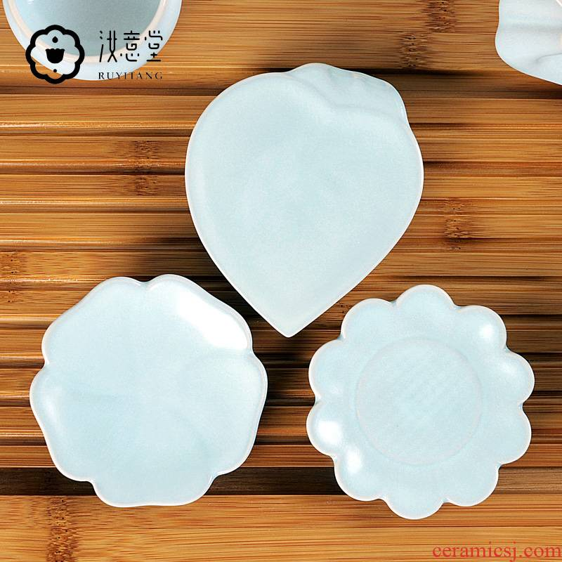 Your up coasters creative ceramic kunfu tea tea accessories cup cup mat cup pad insulation mat mat
