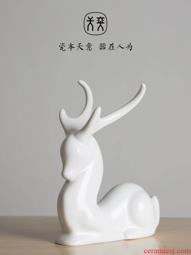 The deer deer promotion day yi ceramics sika deer furnishing articles household adornment of new home sitting room window